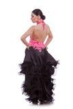 回到美丽的舞蹈演员妇女 免版税库存照片
