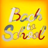 回到背景学校 10 eps 免版税库存照片