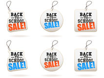 回到销售额学校标签 免版税库存照片