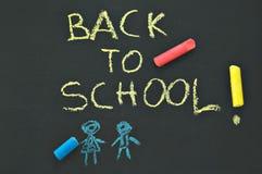 回到黑板学校 免版税库存图片