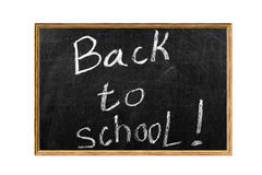回到黑板的学校 免版税库存图片