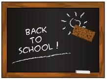 回到黑色黑板学校 免版税图库摄影