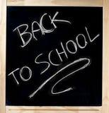 回到黑板的学校 库存照片