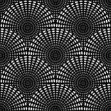 回合的无缝的几何单色样式 免版税库存图片