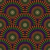 回合的无缝的几何样式 库存照片