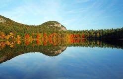 回声新汉普郡的湖 免版税库存照片