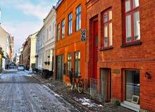 回家传统马尔摩老瑞典瑞典的城镇 免版税库存图片