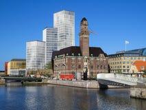 回家传统马尔摩老瑞典瑞典的城镇 免版税库存照片