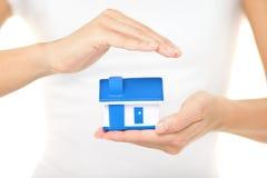 回家保险和保护 免版税库存图片