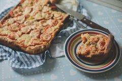 回家做的工匠素食者比萨饼用葱胡椒 免版税库存照片