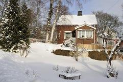 回家美好的冬天 库存图片