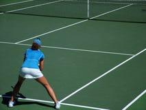 回归网球 免版税库存图片