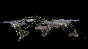 回报世界网络、互联网和全球性连接概念的摘要3D 美国航空航天局装备的这个图象的元素 免版税库存图片