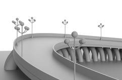 回报例证建筑学桥梁 免版税库存图片