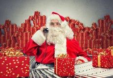 回报圣诞老人工厂的3D 免版税库存照片