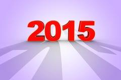 回报在3D的新年2015年 库存图片