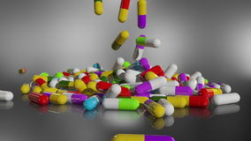回报多彩多姿的医疗药片的3D 影视素材