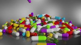 回报多彩多姿的医疗药片的3D 股票录像