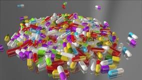 回报多彩多姿的医疗药片的3D 股票视频