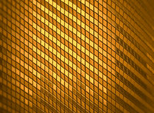 回报抽象豪华亮光金黄马赛克背景的3d 图库摄影