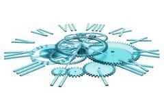 回报时钟,时间的概念的3D 免版税图库摄影