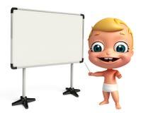 回报有白板的婴孩 库存照片