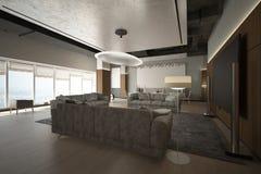 回报现代休息室区域 免版税图库摄影