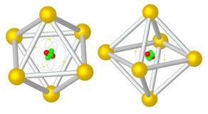 回报:在金属cristal捉住的原子 免版税库存图片