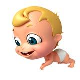 回报婴孩走的姿势 图库摄影