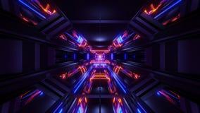 回报motionbackground无缝使成环的美好的未来派科学幻想小说太空船隧道背景3d例证3d 皇族释放例证