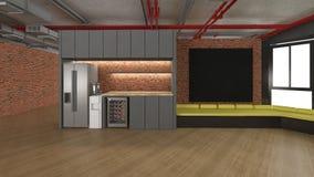 回报ofPantry室,空的室的3D 向量例证