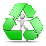 回收与3D字符的标志 库存图片