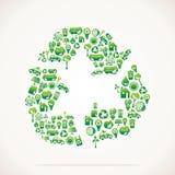 回收与eco本质图标的设计 免版税库存照片