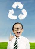 回收为将来 库存照片