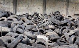 回收产业的轮胎 库存照片