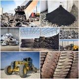 回收产业的轮胎 免版税库存图片