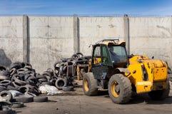 回收产业的轮胎 免版税库存照片