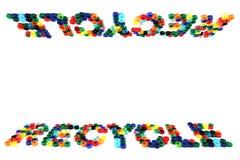 回收从颜色盖帽的符号 免版税库存图片