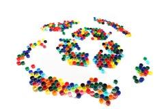 回收从颜色盖帽的符号 库存照片