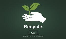回收再用减少生态系环境概念 库存例证