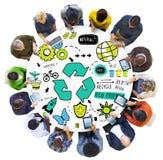 回收再用减少生物Eco友好的环境概念 库存照片