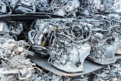 回收发动机特写镜头 库存照片