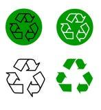 回收向量 免版税库存照片