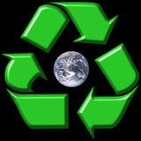 回收周围的符号的e 图库摄影