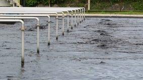 回收在污水处理岗位的水 影视素材