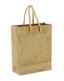 回收在白色背景隔绝的包装纸袋子。 库存图片