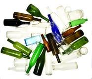 回收在白色隔绝的玻璃 免版税库存照片