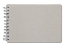回收在白色隔绝的笔记本盖子 免版税库存照片