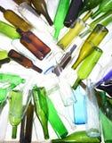 回收在白色bacground的玻璃 库存照片