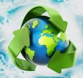 回收地球 库存照片